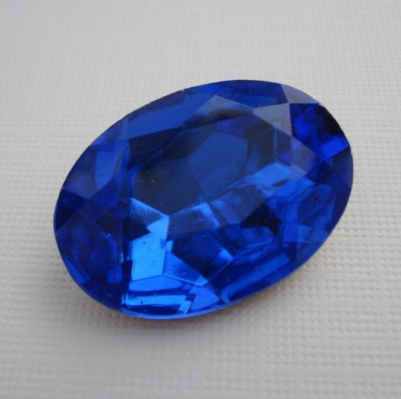 oval cobalt blue jewel kelley stained glass